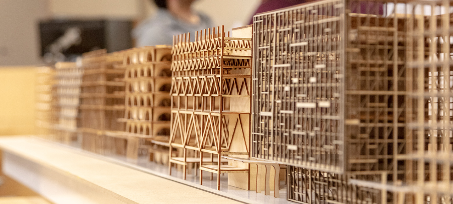 Architecture wooden models